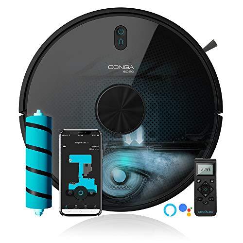 Cecotec Staubsaug-Roboter Conga 6090 Ultra, Digital Motor, 4 in 1, Laser-Technologie, 10 ProgrammeApp-Verbindung, 5 Speicherkarten