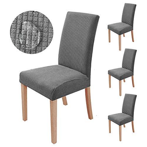 sorliva Stuhlhussen Stretch 4er Set Abnehmbarer waschbarer Stuhlbezug für das Esszimmer Moderne elastische Stuhlschutzdekoration für Büro Bankette...