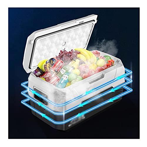 TAOBEGJ Mini Kühlbox Auto, Klein Elektrische Kühlschrank Gefrierbox, Tragbare Kompressor-Kühlbox/Gefrierbox, 12/24V Für Auto, LKW Und Steckdose,Black-20L