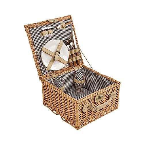 BUTLERS A Day in the Park Picknickkorb für 2 Personen groß - Rechteckiges Picknick-Koffer Set mit Geschirr und Besteck