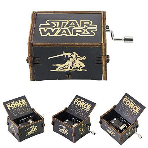 LYTIVAGEN Klassische Spieluhr Holz Musik Box Kreative Holz Handwerk Handkurbel Spieluhren mit Retro Schnitzen, ein bestes Geschenk für Kinder, Freunde, 6 x 5 x...