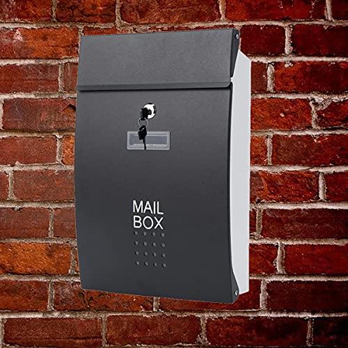 Postkasten, Briefkasten, Wandbriefkasten, namensschild briefkasten, briefkasten mit hausnummer, abschließbar, Briefkasten Anthrazit, Wandbriefkasten Anthrazit,...