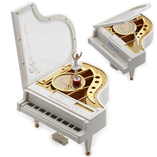 Sidiou Group Kreatives Geschenk zum Valentinstag Laputa Piano Dancers Rotary Spieluhr Vintage Mechanical Classical