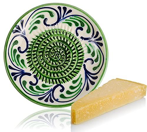 RYBE - Küchenreibe Parmesanreibe Muskatnuss Ingwer Gemüse Apfel Käse Reibe Babynahrung Zubereiter Reibeteller Keramikreibe Zitronenreibe Multireibe Grün
