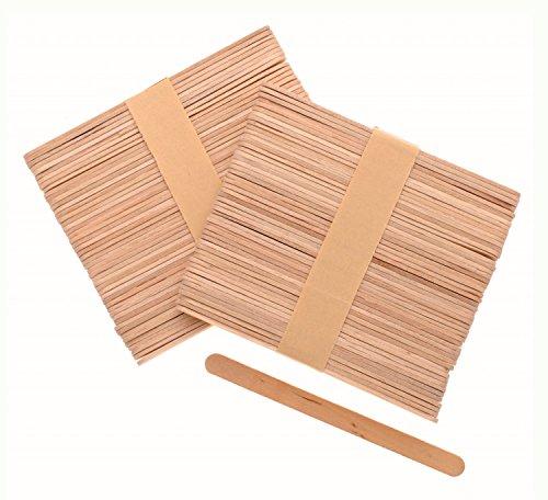 Glorex 6 2200 654 - Bastelhölzer, aus unlackiertem Birkenholz, in Form von Eisstäbchen, ca. 11 cm lang mit abgerundeten Enden, 100 Stück, vielseitig...
