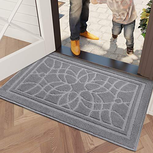 DEXI Schmutzfangmatte 80 x 120 cm,wasserabsorbierende Fußmatte für Innen und Außen,rutschfest und waschbar Haustürmatte Türmatte Teppiche...