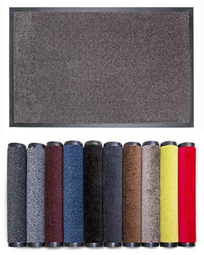 Carpet Diem Rio C Schmutzfangmatte - 5 Größen - 10 Farben Fußmatte mit äußerst starker Schmutz und Feuchtigkeitsaufnahme - Sauberlaufmatte in Taupe 40 x 60...