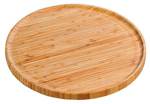 KESPER 58463 Pizzateller 32 cm aus FSC-zertifiziertem Bambus/Holzteller/Pizzaunterlage/Pizza-Holzteller/Holzgeschirr