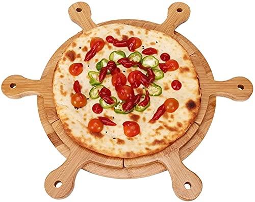 ZXYDD Pizzabrett Pizzablech Brot Sushi Kuchen Teller Obstteller praktisch und praktisch (Farbe: Bambus, Größe: 27 x 34 cm) (Farbe: Bambus, Größe: 27 x 34...