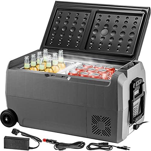 VEVOR Elektrische Kühlbox, 36 L Auto Kühlbox 723 x 360 x 368 mm Kühlbox Elektrisch 20 ℃ ~ 10 ℃ Tragbar Kühlschrank, 12 V / 24 V Kompressor Kühlbox...