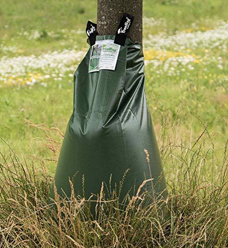 treebag PVC Bewässerungssack aus Polyvinylchlorid, Bewässerungsbeutel/Wassersack für Bäume, uv-stabile und verstärkte Glatte Polyvinylchloridfolie, 92x86...