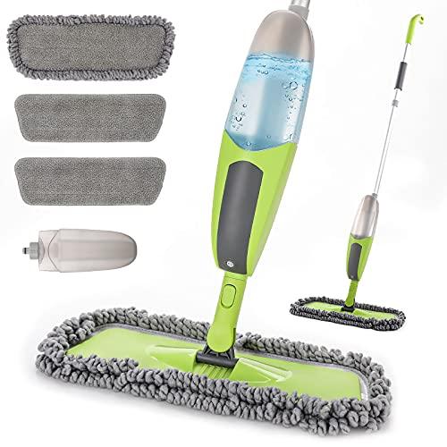 Wischer mit Sprühfunktion,Tobeelec Sprühwischer 550ML Wischmopp mit Sprühfunktion Spray Mop Bodenwischer mit 3 Waschbaren Mikrofaserbezug, für Hauses,...