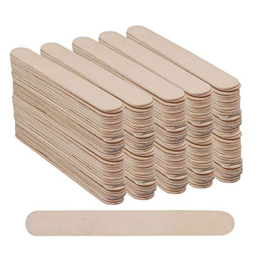 BELLE VOUS Eisstiele aus Holz (300 STK) - (15x1,9cm) Jumbo Holz Eisstiele - EIS am Stiel Lollipop Stick Lesezeichen, Wandkunst, Holzlampen und Bastelprojekte -...