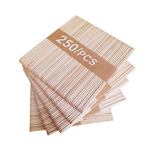 250 Stücke Eisstiele, 11.4 cm Lang, 1 cm Breit Eisstiele Holz basteln,für Holzstäbchen zum Basteln Umrühren Holzstiele und Basteln DIY Handwerk