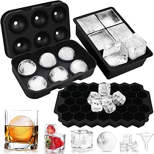 Lenski Eiswürfelform, 3 Stück Eiswürfelform Silikon Eiswürfelform mit Deckel Eiswürfelform Groß, LFGB Zertifiziert Eiswürfelformen, Familie, Bier,...