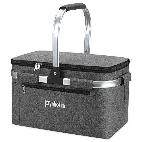 Picknickkorb, thermokorb Einkaufskorb, Kühltasche Kühlkorb Kühlbox Isoliertasche Thermotasche Einkaufstasche Coolerbag Picknicktasche für...