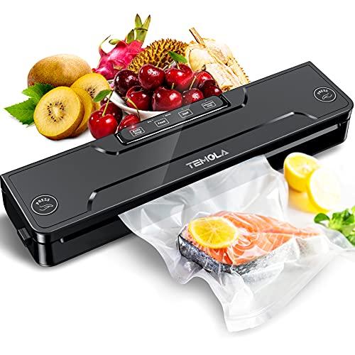 Vakuumiergerät, TEMOLA Vakuumierer Sous Vide, TS20 Folienschweißgerät für Sous Vide Automatische Lebensmittel Versiegelung für Trockene und Feuchte...