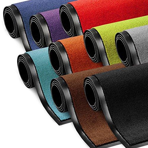 etm Schmutzfangmatte ColorLine   Türmatte in vielen Größen   Fußmatte für Innenbereich   Rutschfester Teppich für Flur, Haustür, Eingang,...