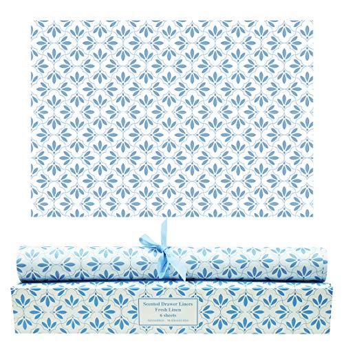 SCENTORINI Schrankpapier Leinen Duft für Schubladen, Kommodenregal, Wäscheschrank und Kleiderschrank, 42cm x 58cm, 6 Blatt