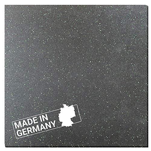 Antivibrationsmatte Hemmdal - 60x60 cm 8 mm - Waschmaschinenmatte - Gummimatte Made in Germany - Antirutschmatte für Waschmaschine, Trockner, Geschirrspüler &...