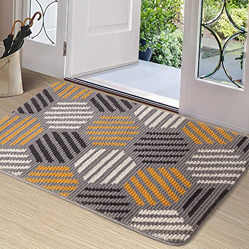 Color&Geometry Fußmatte innen 90x150 cm, rutschfeste Schmutzfangmatte Waschbar Türmatte groß Sauberlaufmatte für Eingangsbereich, Haustür, innen und...