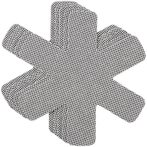Chefarone Pfannenschoner Filz - 5er Set - 38 cm - XL Pfannenschutz - Stapelschutz für perfekten Pfannen Schutz (grau)