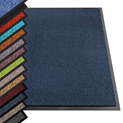 etm® Schmutzfangmatte - Note 1,6: Sieger Preis-Leistung - Fußmatte in vielen Größen - Türmatte Fußabstreifer für Haustür innen und außen (Blau-Schwarz,...