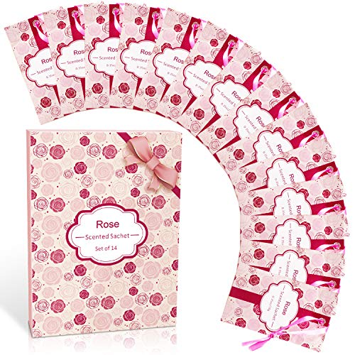 SCENTORINI Duftsäckchen mit Rosenduft, hochwertige Duftbeutel für Bekleidung, Schubladen, Schränke, Zimmer, Kleiderschrank, Badezimmer, Autos,...