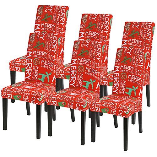 IVYSHION Stuhlhussen Stretch Universal 4/6er Set Esszimmerstühle Elastischer Stuhlbezug, Stuhlhussen Schwingstühle Abnehmbarer Moderne Beschützer...
