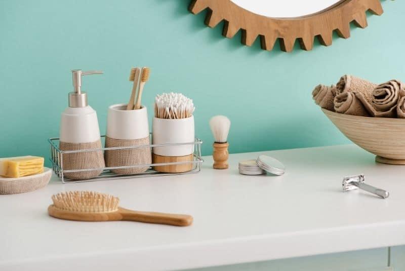 Bambus Seifenspender und andere Badezimmerartikel aus Bambus